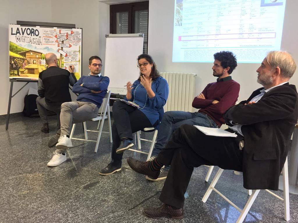 Un momento del workshop, Tirano (SO)
