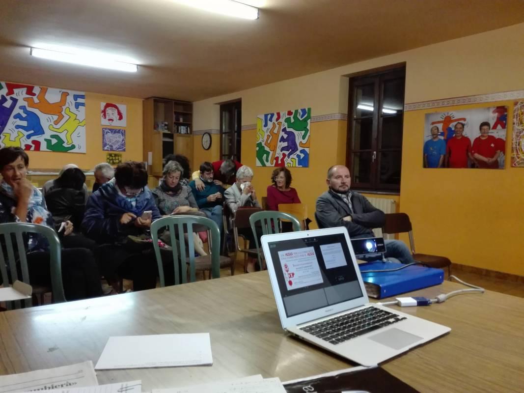 Un incontro pubblico a Madonna di Tirano (SO)